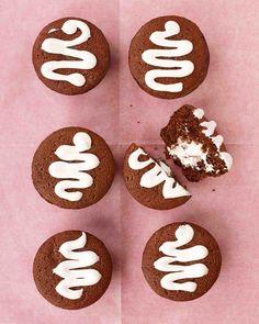 Chocolate Cupcake Recipes: Cream-Filled Chocolate Cupcakes