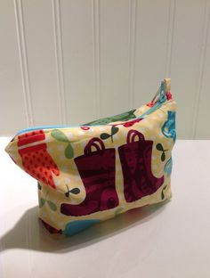 Garden boots and tools makeup bag by PhoebeMade on Etsy, $15.00