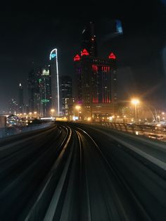 Dubai Metro at Night