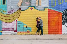 Urban Engagement Photos at Eastern Market Eastern Market Mural Engagement Photos in Downtown Detroit {See more pics up on the Detroit Engagement Photos, Urban Engagement Photos, Engagement Pictures, Engagement Shoots, Photo Mural, Graffiti Murals, Engagement Inspiration, Wedding Inspiration, Wedding Ideas