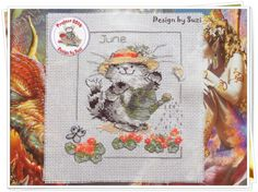 Project 2014: 17/40 June (Margaret Sherry-Calendar Cats)