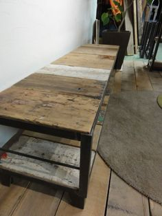 Miscellaneous Goods, Industrial Furniture, Basement, Table, Design, Home Decor, Salvaged Wood, Mesas, Homes