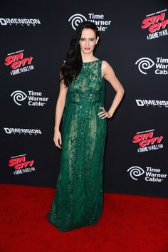 Eva Green wears ELIE SAAB Haute Couture Fall Winter 2013-14 to the 'Sin City: A Dame To Kill For' movie premiere in Hollywood.