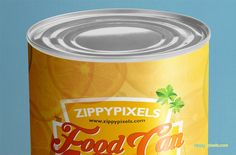present your packaging and labeling designs with this free food can mock-up
