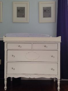 Genial DIY Repurposed Refinished Chest Of Drawers/dresser Into A Nursery Changing  Table. Antique.