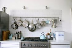A kitchen big and open enough to hang my things up and not look cluttered.
