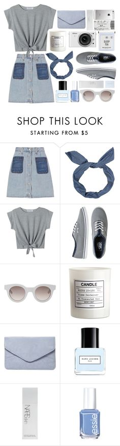"""""""Dressed down denims"""" by rheeee ❤ liked on Polyvore featuring rag & bone, WithChic, Vans, Sun Buddies, H&M, Nikon, Dorothy Perkins, Marc Jacobs, NARS Cosmetics and Essie"""