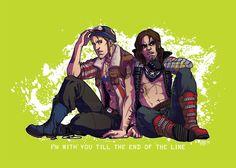 Punk versions of Steve Rogers and Bucky Barnes. :D  I love Punk versions! <3