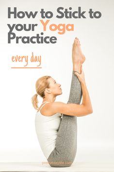 to stick to your Yoga practice Stop struggling to make Yoga a daily habit.Stop struggling to make Yoga a daily habit. Restorative Yoga Poses, Prenatal Yoga, Yoga Journal, Attitude, Online Yoga, Daily Yoga, Yoga Poses For Beginners, Morning Yoga, Yoga Tips