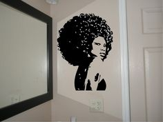 Beautiful Afro Chic Women-Housewares, Wall Decal, afro, decal, sticker, vinyl, black, African, custom, personalized, wall decor, decoration