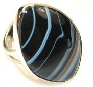 Amazing Botswana Agate Sterling Silver ring s . 7 - Adjustable