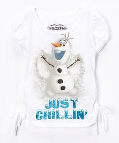 This White Frozen Snow Angel Tee - Toddler & Girls by Frozen is perfect! #zulilyfinds $7.99, regular 16.00