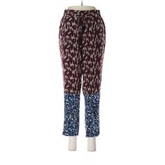 Elizabeth and James Silk Pants (245 SAR) ❤ liked on Polyvore featuring pants, burgundy, elizabeth and james, elizabeth and james pants, silk trousers, silk pants and burgundy pants