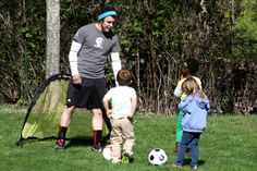 Players learn that passing the ball to their friends can help their team score goals.