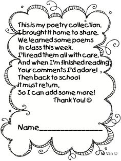 Daily Five - Read to Someone-Poetry Collections - Site has a ton of Daily 5 stuff for first grade. |Pinned from PinTo for iPad|