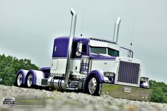White and purple Peterbilt, nice and clean. Description from pinterest.com. I searched for this on bing.com/images