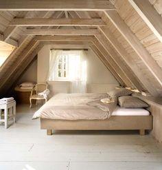 Mooie houten zolder