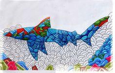 Optical Shark  - Quando estou no processo de criação, eu geralmente não penso muito como as linhas ficaram, o processo de trasnformação visual realmente acontece para mim, quando eu começo a pintar. - When I'm in the creative process, I usually do not think much as the lines were, the process of visual trasnformação actually happens to me when I start painting.