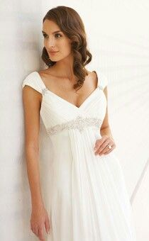 Snowflake greek style wedding dress