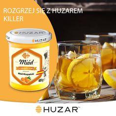 -60ml Whiskey -90ml wody -30ml miodu pomarańczowego Huzar -15ml soku z cytryny
