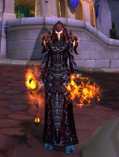 Crimson and fire mail xmog. Shaman only. Offhand is un-mogged doomhammer artifact.