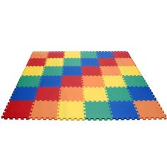 "$69.99-$85.00 Baby eWonderWorld Rainbow Interlocking foam Wonder Mats: 36 Pieces at 12"" X 12"" X ~5/8"" Thick - Ideal for play room, basement, garage, classrooms, nurseries, or any other flooring that needs a touch of color!    Make any rough and/or hard area soft and smooth instantly! Protect your flooring with these mats. http://www.amazon.com/dp/B001XUIEFO/?tag=pin2baby-20"