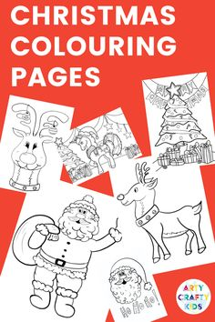 Arty Crafty Kids Children's Christmas Coloring Pages Easy Preschool Crafts, Christmas Crafts For Kids To Make, Creative Activities For Kids, Easy Arts And Crafts, Diy Gifts For Kids, Easy Crafts For Kids, Kids Diy, Creative Kids, Christmas Art For Kids