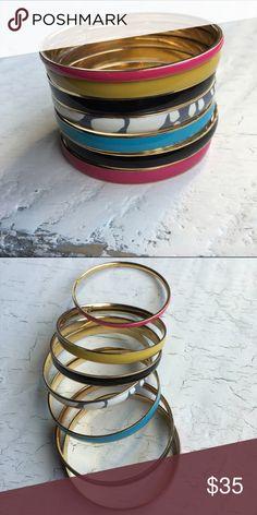 J.Crew enamel bangles🌷 7 colorful bangles. J. Crew Jewelry Bracelets