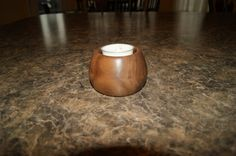 Handcrafted Small Walnut Bowl/Candle Holder by bwrinklez on Etsy, $7.50   http://www.etsy.com/shop/bwrinklez   @BrianPWrinkle