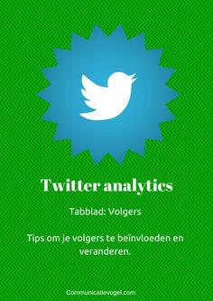 Twitter analytics tabblad volgers. Wat je ermee kan en hoe je volgers met de informatie kan beïnvloeden.
