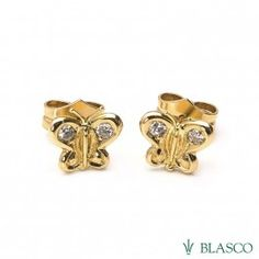 411bdf185285 Pendientes Mariposas de oro amarillo y diamantes earrings  butterflies   ofertas  joyasenoferta  jewelsinoffer