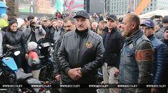 Lukashenko drives Harley-Davidson at HOG Rally Minsk