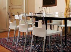 Kunststof stoel – Diva.  Designstoel op geannodiseerd 4 pootsframe