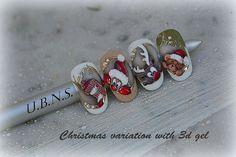 gel and gel painting variations for Christmas # christmas nails Holiday Nail Designs, Winter Nail Designs, Nail Art Designs, Xmas Nails, Holiday Nails, Winter Nail Art, Winter Nails, Painted Acrylic Nails, Nail Ink