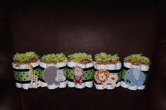 Mini Jungle Theme Diaper Cakes