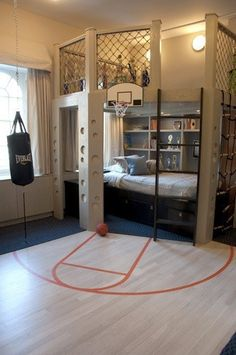 Dream room for a boy or basketball lover.