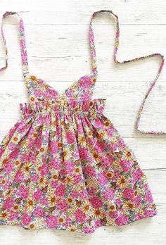Handmade Floral Pinafore Dress   MissLylaBoutique on Etsy