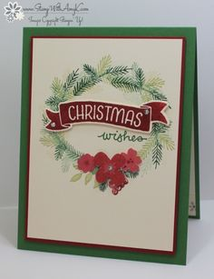 Stampin' Up! Time of Year Christmas Card (Stamp With Amy K)