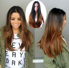 Made of virgin human hair. Hair color: As picture shown. Each hair individually implanted and hand-tied. Hair Density: We will resolve your problems. Love Hair, Great Hair, Gorgeous Hair, Ombre Hair, Balayage Hair, Bayalage, Brown Balayage, Pretty Hairstyles, Wig Hairstyles