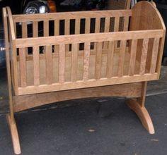 Cherry Baby Cradle - by dbriski @ LumberJocks.com ~ woodworking community
