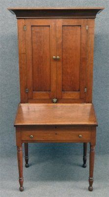 "19Th Century Cherry Plantation Desk, 73 3/4"" Tall X 23"" : Lot 264"