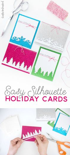Easy Silhouette Holiday Cards