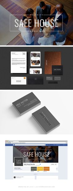 Safe House Security Brand Identity Mockup by Julie Harris Design