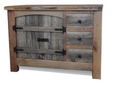 Arched Barnwood Vanity with Drawers — Barn Wood Furniture - Rustic Barnwood and Log Furniture By Vienna Woodworks Italian Bedroom Furniture, Log Furniture, Bathroom Furniture, Furniture Stores, Modular Furniture, Antique Furniture, Modern Furniture, Furniture Handles, Painting Furniture