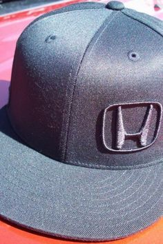 "Honda ""H"" Logo Fitted Cap totally want this @Teresa Selberg Selberg Phillips"