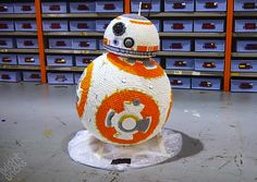 Well now I'm sad that I used the lighter pun on the tiny LEGO BB-8. LEGO certified builders Bright Bricks built this awesome life-size model of BB-8 for th...