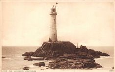 Land's End Longships Lighthouse Leuchtturm Lighthouse Landing, Lands End Cornwall, Photo Postcards, Lighthouses, Statue Of Liberty, Boat, Travel, Statue Of Liberty Facts, Dinghy