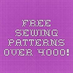 Free Sewing Patterns - Over 4000!