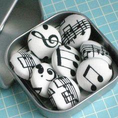 Making Music   Tack Pack of 8 Fabric Push Pins by PaperPumpkin