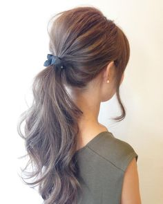 Axe techniques that make you addicted to you Pretty Hairstyles, Easy Hairstyles, Medium Hair Styles, Curly Hair Styles, Ombre Highlights, Hair Arrange, Hair Setting, Asian Hair, Love Hair